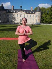 Christina enjoying yoga!