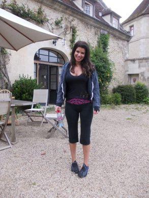 Gina in the courtyard!