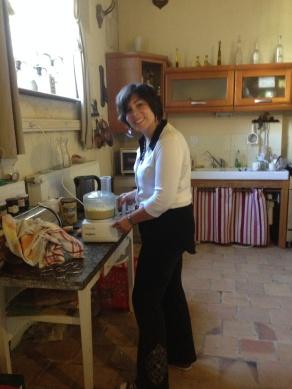Norma making hummus