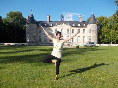 Meghann enjoying some yoga