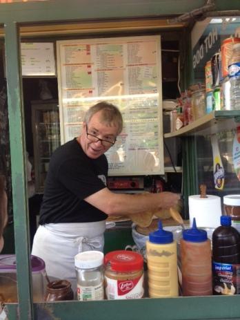 Our crepe maker extraordinaire, John