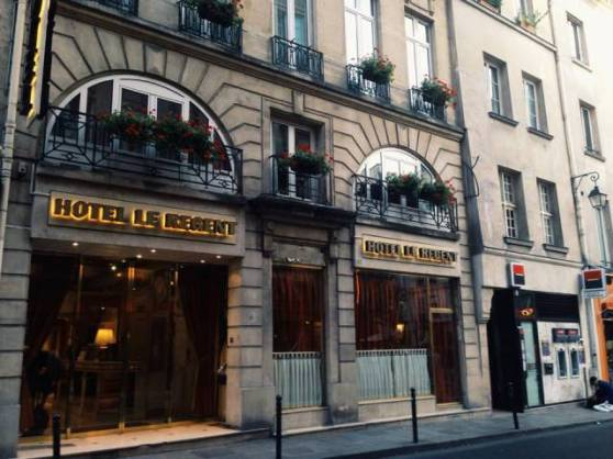 Hotel Le Regent along Rue Dauphine, a highly recommended hotel for solo female travelers :)