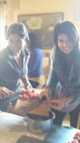 Gina teaches me how to make her famous marinara