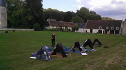 Yoga by the manor house