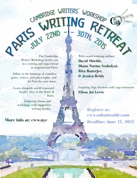 Summer in Paris Writing Retreat