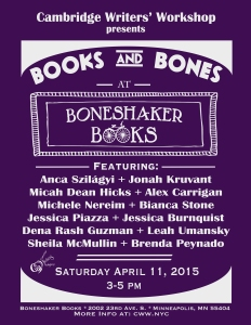 "Our annual AWP reading this year was ""Books and Bones at Boneshaker Books."""
