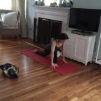 Christina Rau stretching for yoga