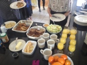 Brunch! French toast, mimosas, & scrambled eggs