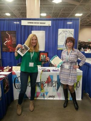 Leah Umansky and Dena Rash Guzman signed their works at our table on Friday.
