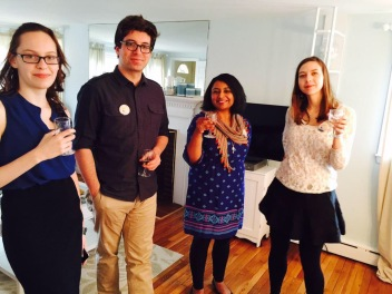 Intern Emily Smith, Instructor Stephen Aubrey, Executive Creative Director Rita Banerjee, & Yoga Instructor Elissa Lewis