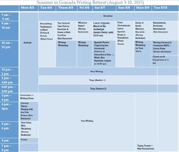 Granada2015Schedule