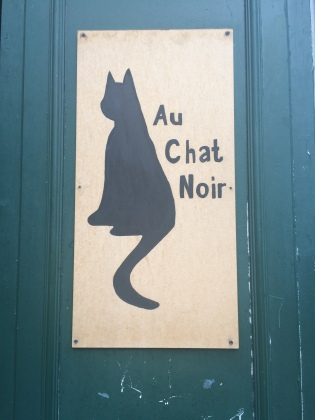 Au Chat Noir, the site of Spoken Word Paris