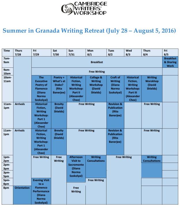Granada2016Schedule