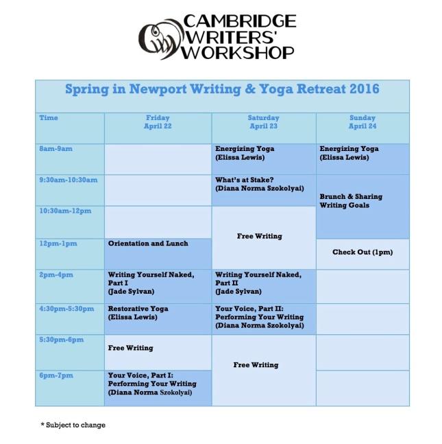 Newport 2016 Schedule