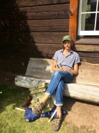 Z.G. T. enjoying the sunshine at the E Bar L Ranch in Greenough, Montana