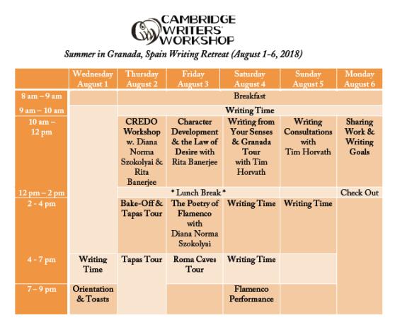 CWW-Granada2018Schedule (2)